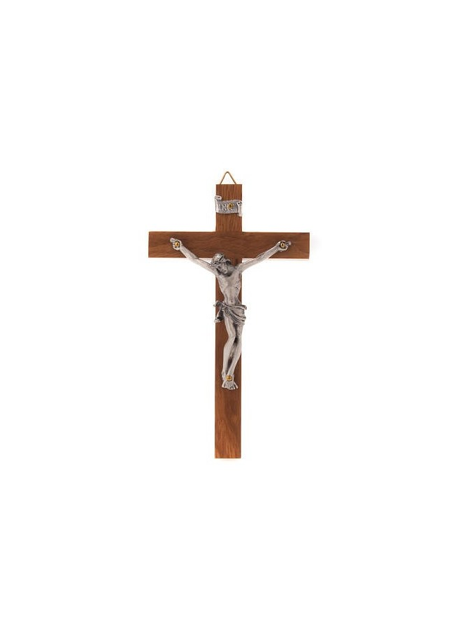 Crucifijo de madera recto...
